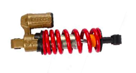 Mono gas filled shock absorber